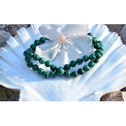 Malachite (6 et 8mm) 2 rangs